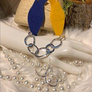 Chloe + Isabel necklace & bracelet silver teardrop